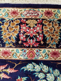 "4'4"" x 6'5""   Silk Persian Qom Tree of Life Rug Angle View"