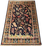 "4'5"" x 6'5""   Silk Persian Qom Tree of Life Rug Angle View"