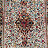 "3'4"" x 5'3""   Silk Persian Qom Rug Angle View"