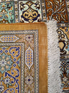 "3'3"" x 4'8""   Silk Persian Qom Rug Angle View"