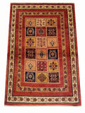 "3'6"" x 5'1""   Persian Kashkuli Rug Top View"
