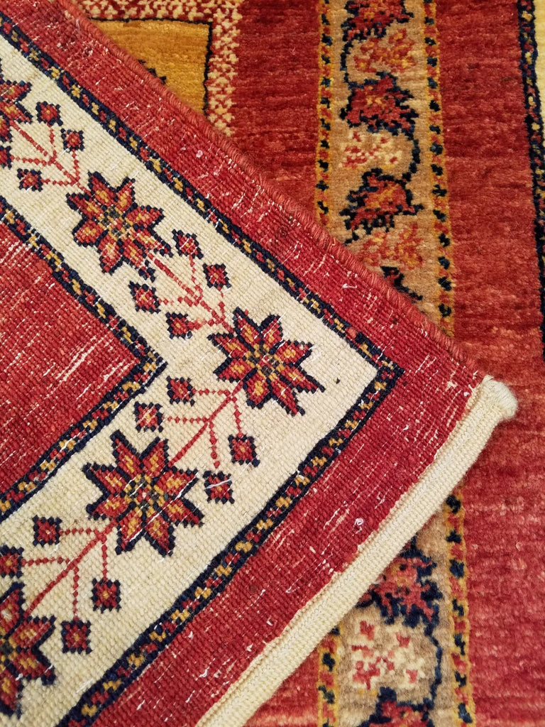 "3'6"" x 5'1""   Persian Kashkuli Rug Back View"