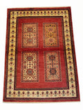"3'8"" x 5'2""   Persian Kashkuli Rug Top View"
