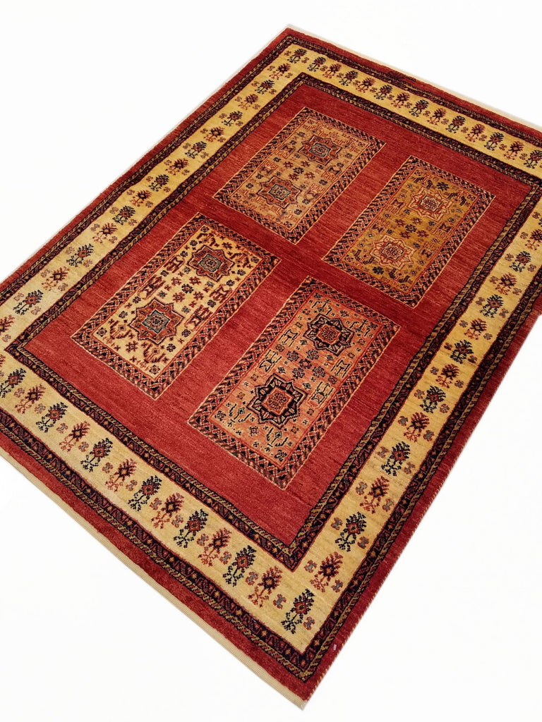 "3'8"" x 5'2""   Persian Kashkuli Rug Back View"