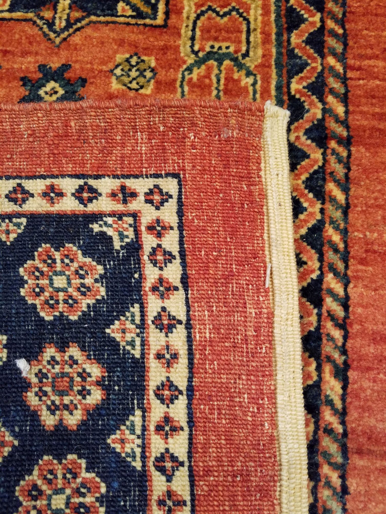 "3'0"" x 6'4""   Persian Kashkuli Rug Back View"