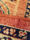 "4'7"" x 6'8""   Persian Kashkuli Rug Back View"