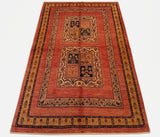 "4'8"" x 7'4""   Persian Kashkuli Rug Top View"