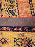 "4'8"" x 7'4""   Persian Kashkuli Rug Back View"