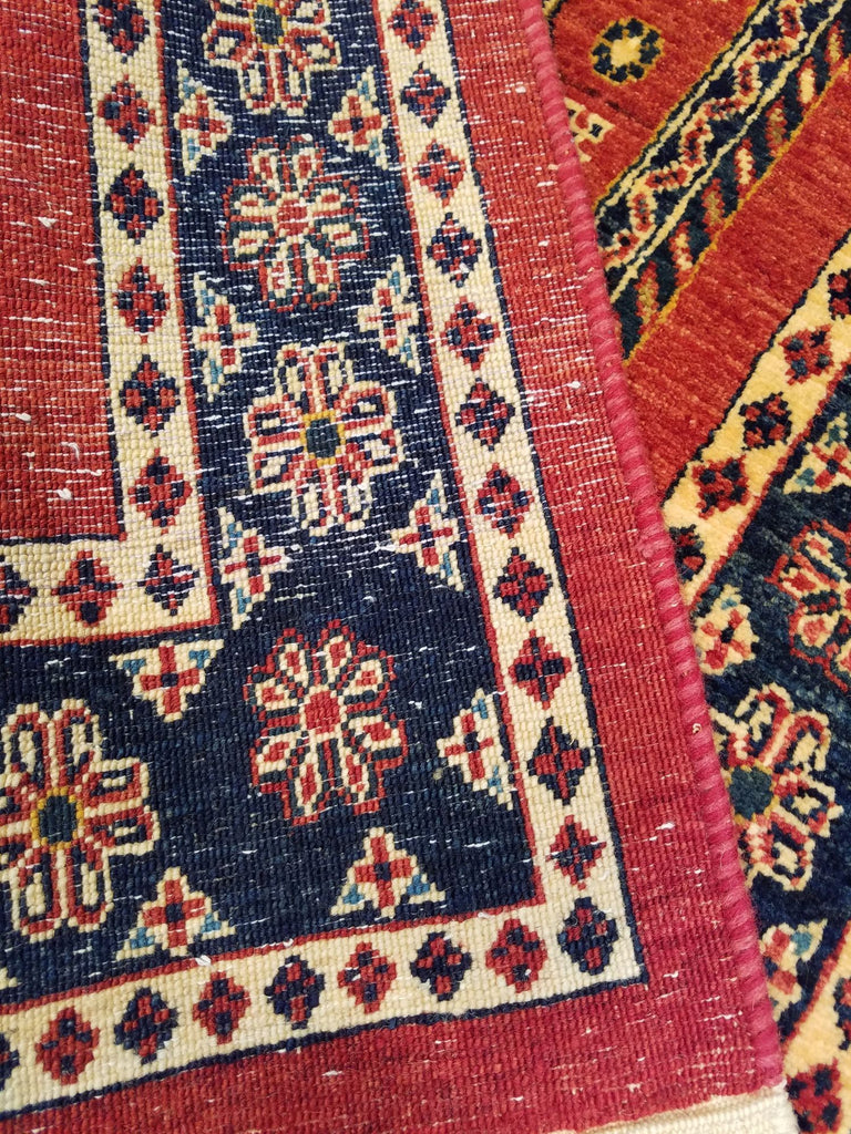 "2'7"" x 10'11""   Persian Kashkuli Runner Rug Back View"