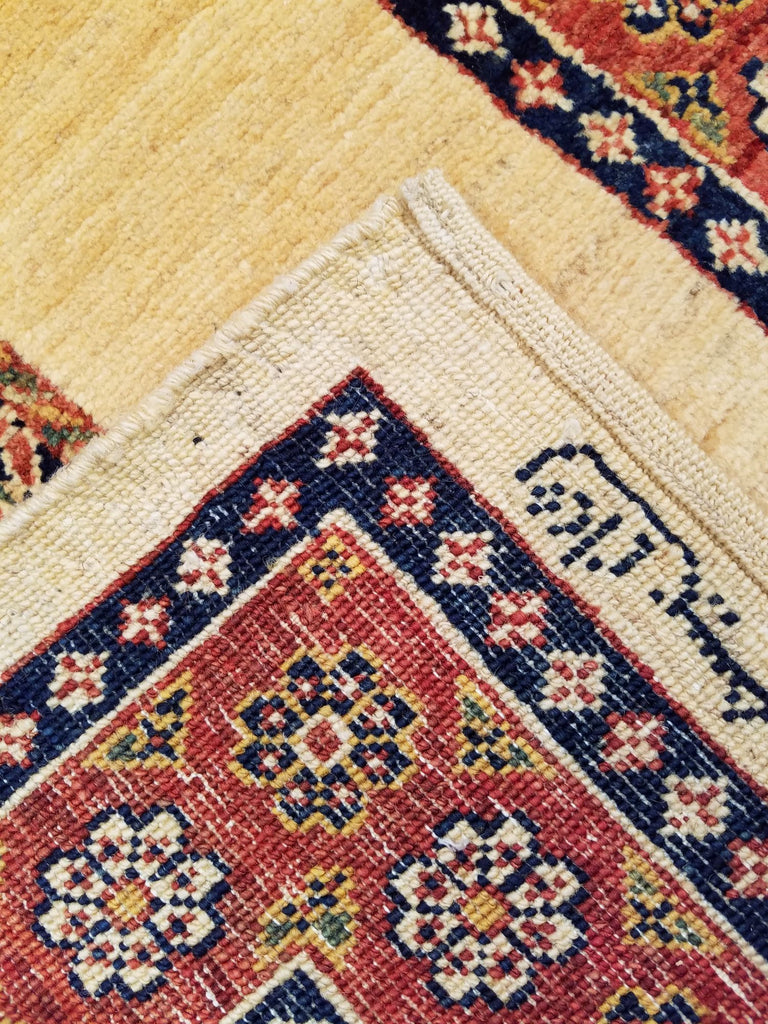 "2'11"" x 8'4""   Persian Kashkuli Runner Rug Back View"