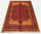 "5'1"" x 7'0""   Persian Kashkuli Rug Top View"