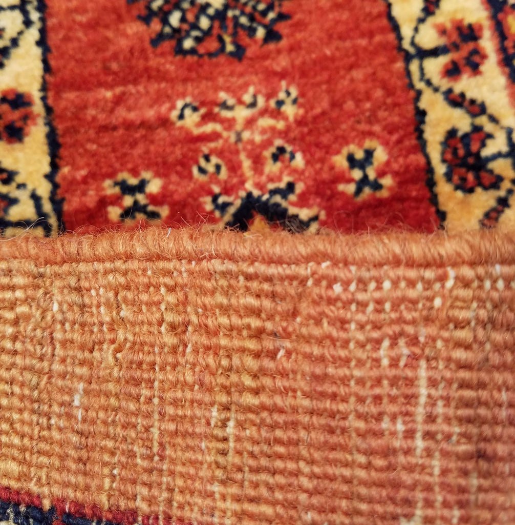 "5'1"" x 7'0""   Persian Kashkuli Rug Back View"