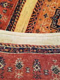 "3'7"" x 5'4""   Persian Kashkuli Rug Back View"