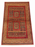 "3'6"" x 5'6""   Persian Kashkuli Rug Top View"