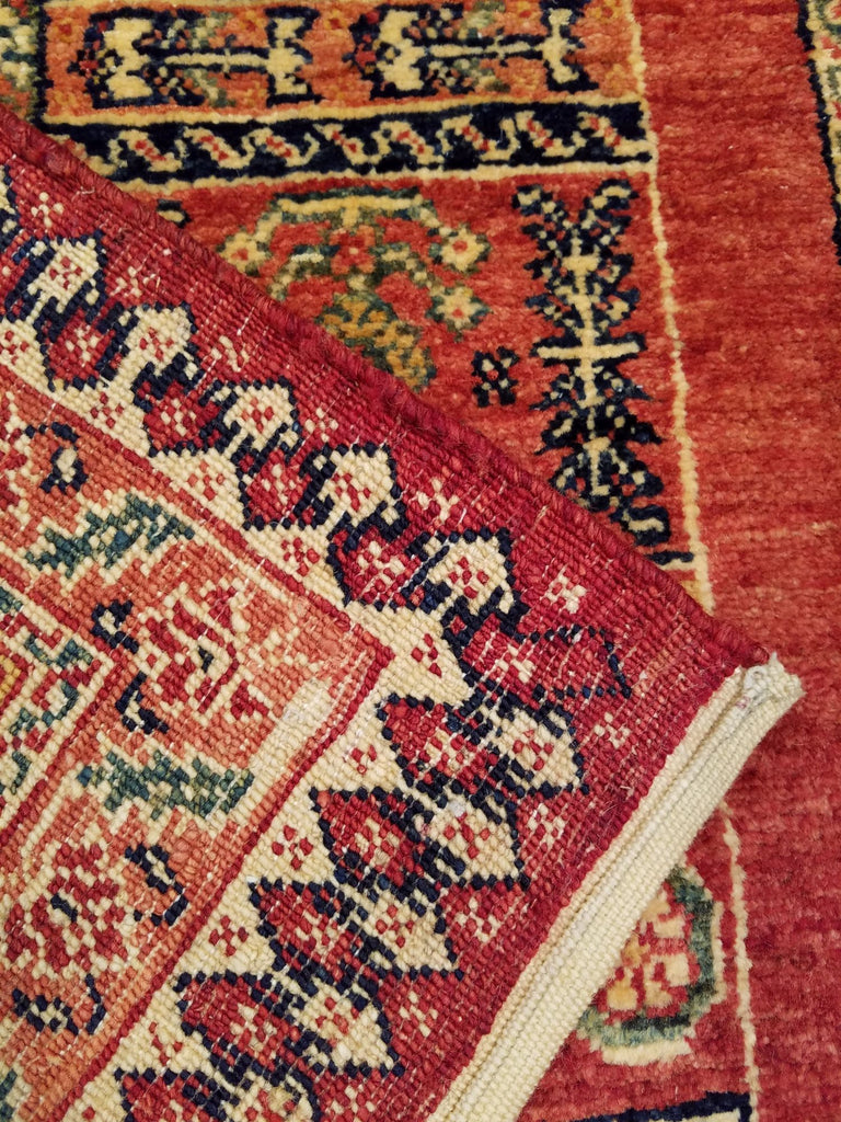 "3'6"" x 5'6""   Persian Kashkuli Rug Back View"