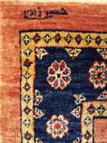 "2'8"" x 9'6""   Persian Kashkuli Runner Rug Back View"