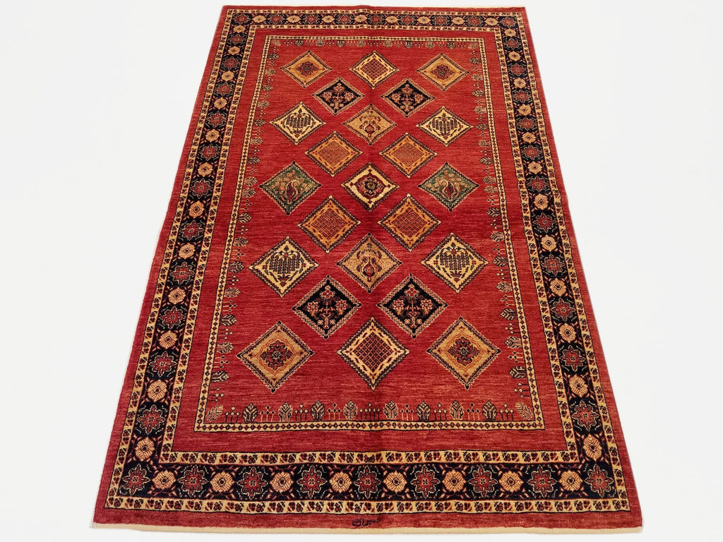"4'7"" x 7'2""   Persian Kashkuli Rug Top View"