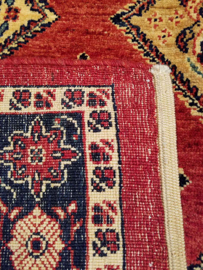 "4'7"" x 7'2""   Persian Kashkuli Rug Back View"
