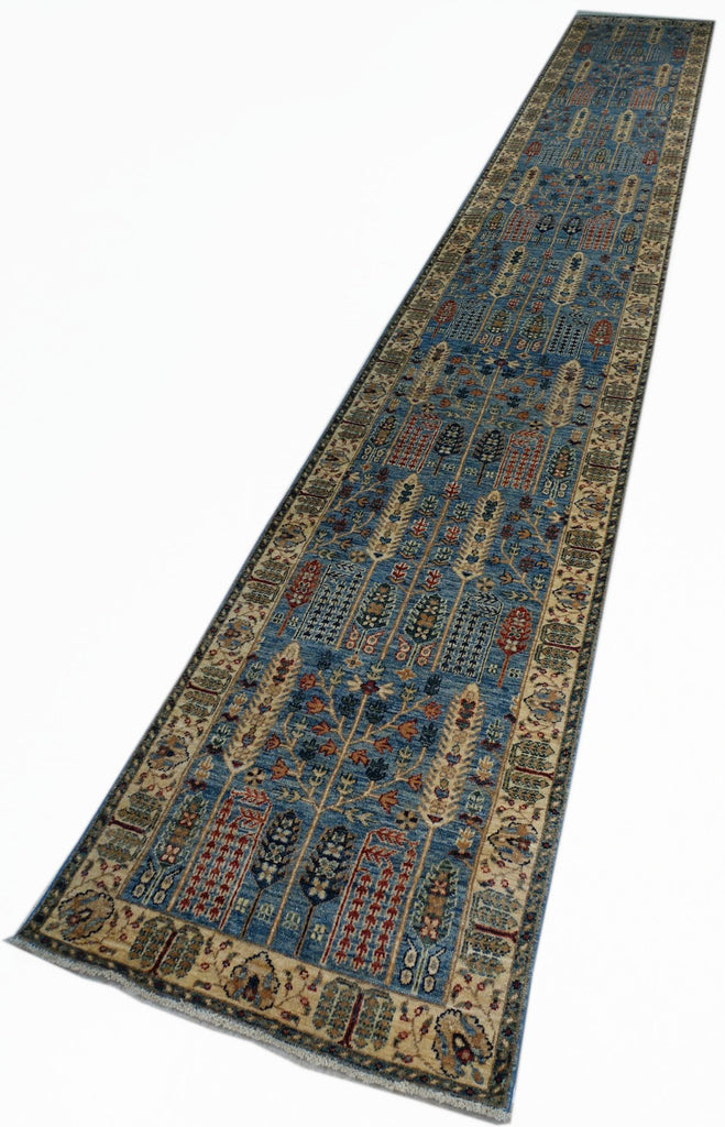 "2'5"" x 16'3""   Persian Serapi Design Runner Rug Top View"
