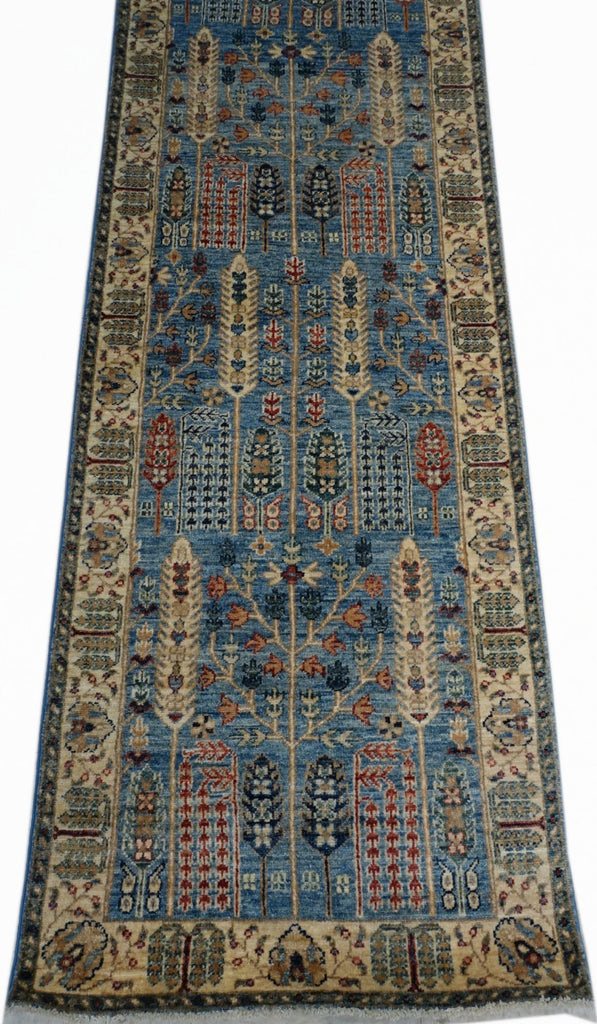 "2'5"" x 16'3""   Persian Serapi Design Runner Rug Angle View"