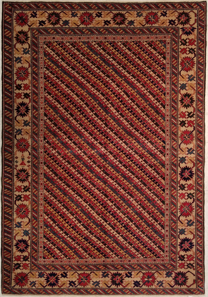 "4'8"" x 6'8""   Turkish Shirvan Rug Top View"