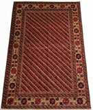 "4'8"" x 6'8""   Turkish Shirvan Rug Angle View"