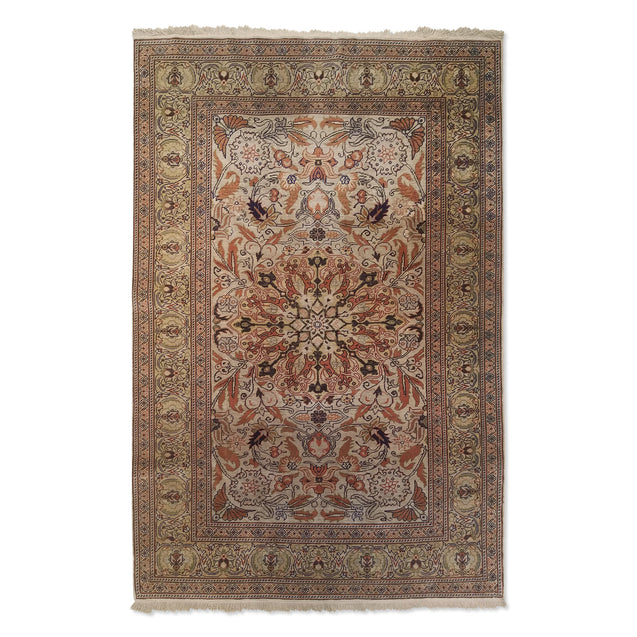 "2'11"" x 4'5""   Silk Turkish Kayseri Rug Top View"