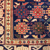 "2'11"" x 9'7""   Turkish Shirvan Runner Rug Angle View"