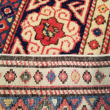 "2'11"" x 9'7""   Turkish Shirvan Runner Rug Back View"