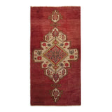 "3'5"" x 6'8""   Antique Turkish Konya Rug Top View"