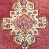 "3'5"" x 6'8""   Antique Turkish Konya Rug Angle View"