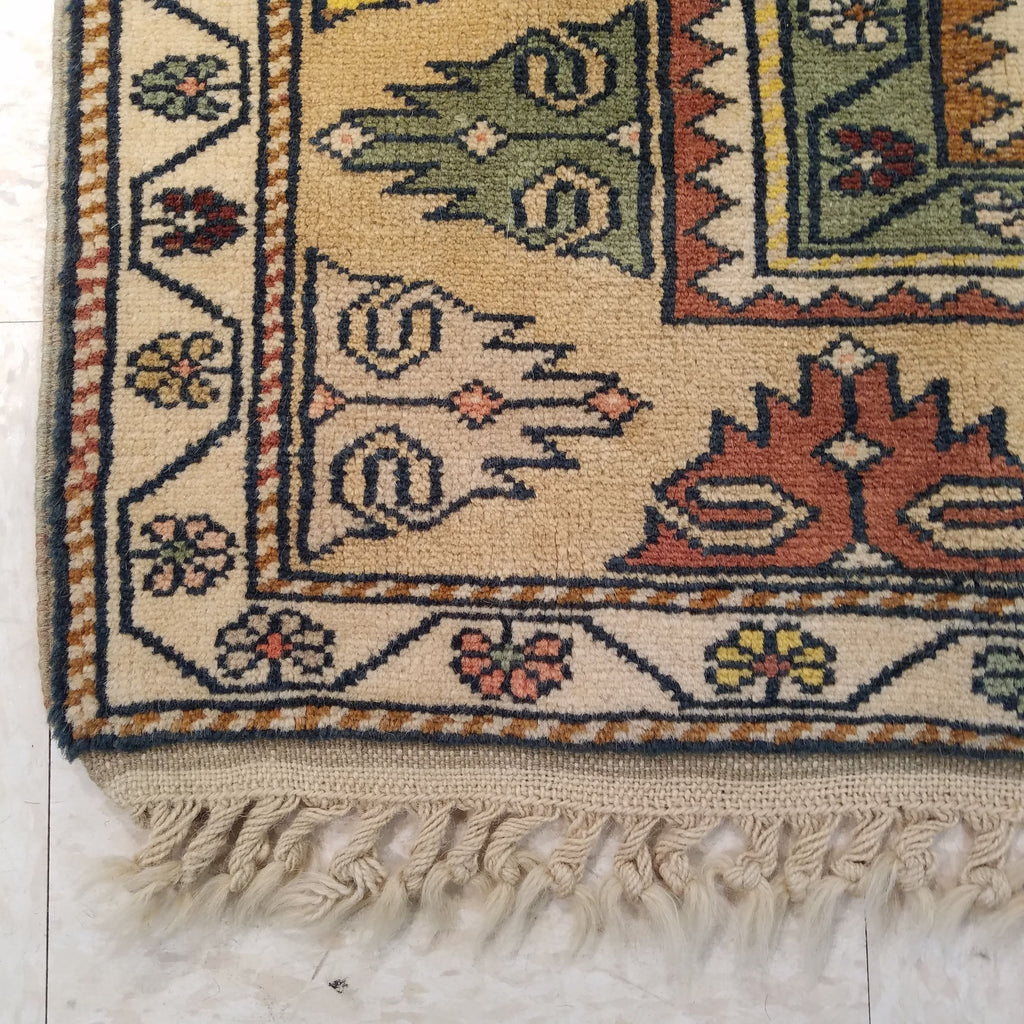 "3'3"" x 4'10""   Turkish Milas Rug Back View"