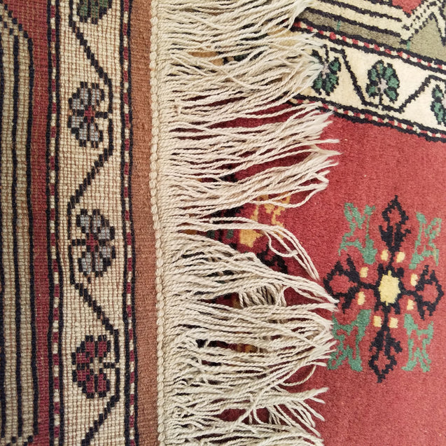 "3'2"" x 4'10""   Turkish Milas Rug Back View"