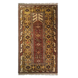 "3'11"" x 6'10""   Turkish Milas Rug Top View"