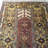 "3'11"" x 6'10""   Turkish Milas Rug Angle View"