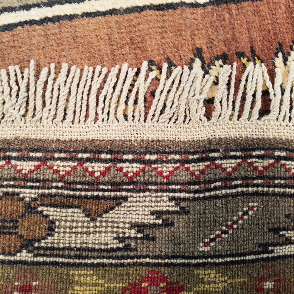 "3'11"" x 6'10""   Turkish Milas Rug Back View"