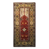 "3'11"" x 7'8""   Turkish Milas Rug Top View"