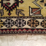 "3'11"" x 7'8""   Turkish Milas Rug Back View"
