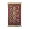 "2'8"" x 4'2""   Silk Turkish Kayseri Polonese Design Rug Top View"