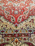 "3'11"" x 6'0""   Silk Turkish Hereke Rug Angle View"