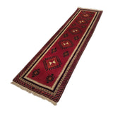 "2'5"" x 9'9""   Turkish Malatya Runner Rug Angle View"