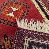 "2'5"" x 9'9""   Turkish Malatya Runner Rug Back View"