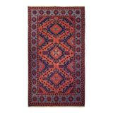 "5'4"" x 9'4""   Antique Uzbek Sumak Rug Top View"