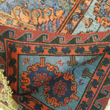 "5'4"" x 9'4""   Antique Uzbek Sumak Rug Back View"