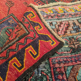 "5'7"" x 9'0""   Antique Uzbek Sumak Rug Back View"