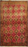 "4'6"" x 7'6""   Persian Vintage Gabbeh Rug Top View"