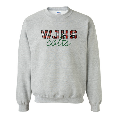 WJHS Colts Winter Plaid Sweatshirt