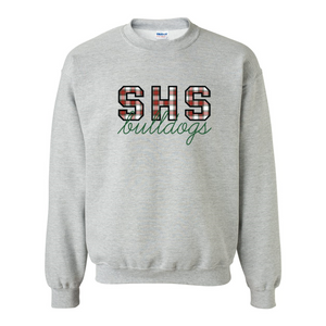 SHS Bulldogs Winter Plaid Sweatshirt