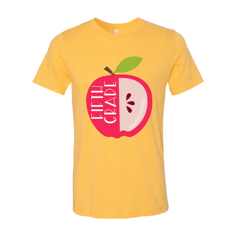 Fifth Grade Apple Tee