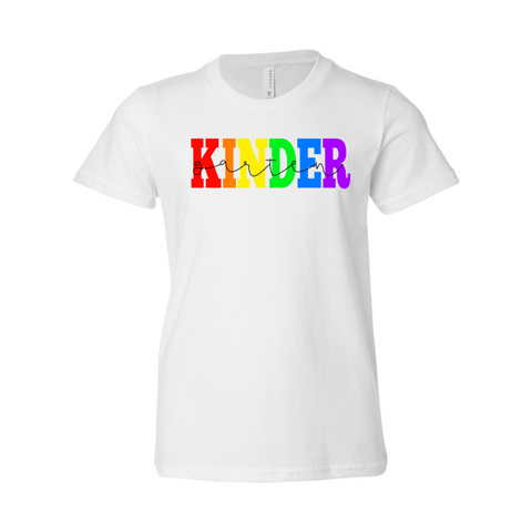 Kindergarten YOUTH Rainbow Soft Tee